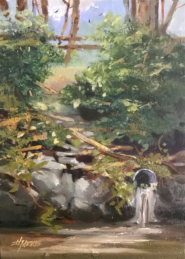 """The Culvert"" original fine art by Helen Harris"
