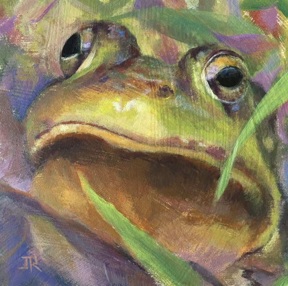 """The Critter Challenge"" original fine art by June Rollins"