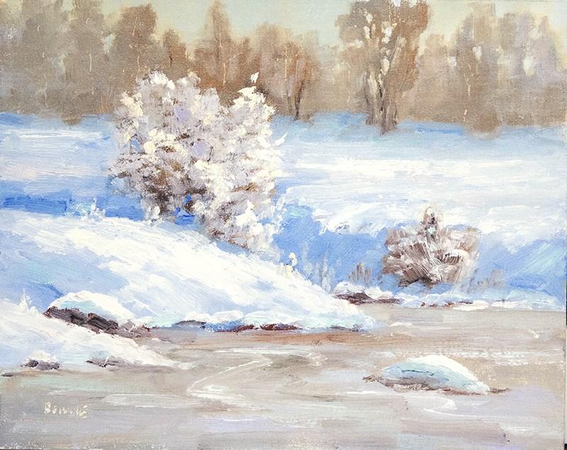 """Winter Blues"" original fine art by Bonnie Bowne"