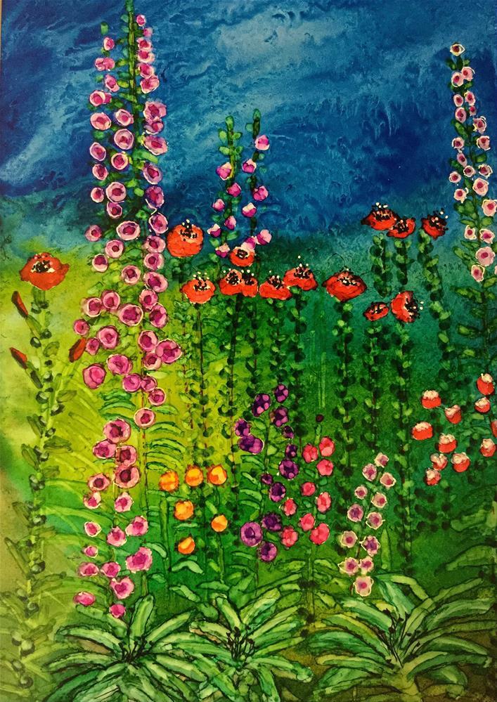 """""""Cottage Garden III"""" original fine art by Korinne Carpino"""