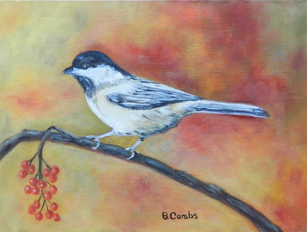 """Little Chickadee"" original fine art by Bebe Combs"