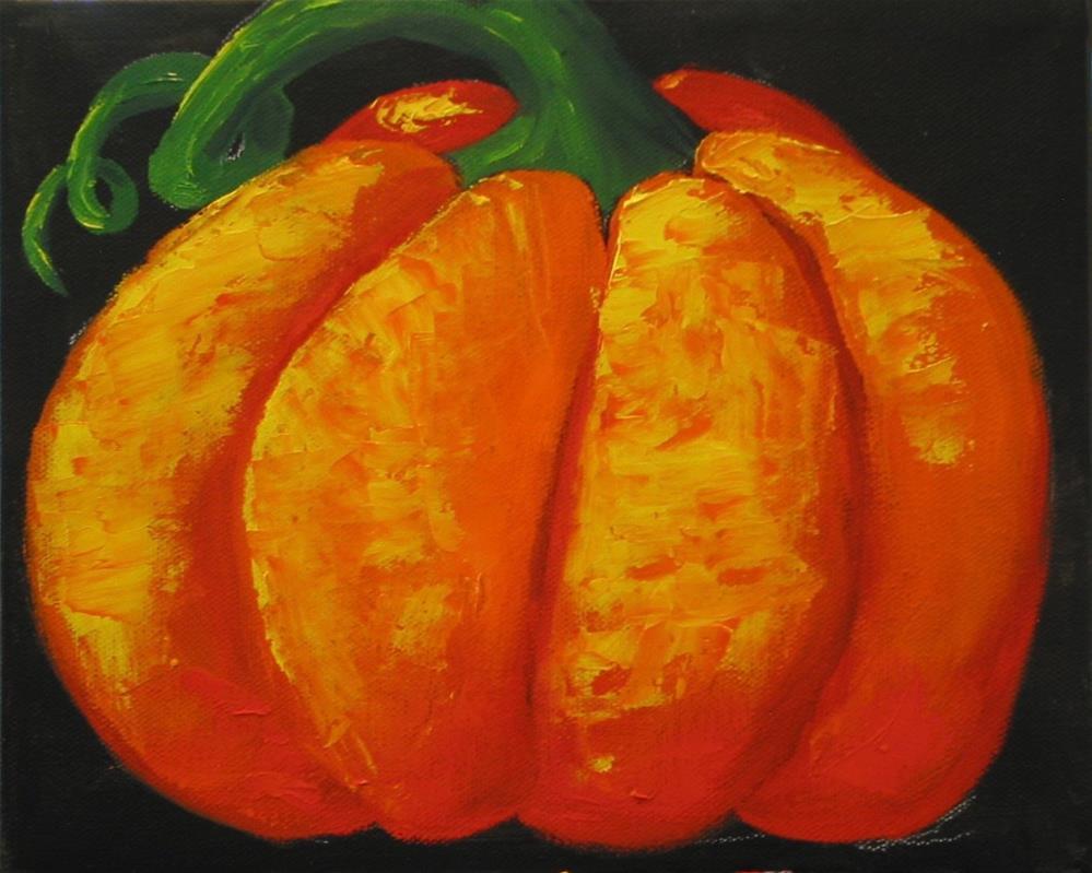 """""""Tres Pumpkins"""" original fine art by Patricia Murray"""