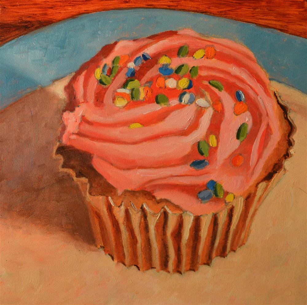 """Cupcake With Sprinkles"" original fine art by Robert Frankis"