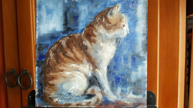 """""""Looking Out"""" original fine art by Tammie Dickerson"""