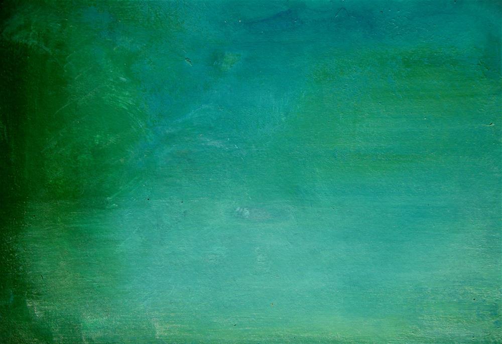 """Blue Green Water"" original fine art by Alina Frent"