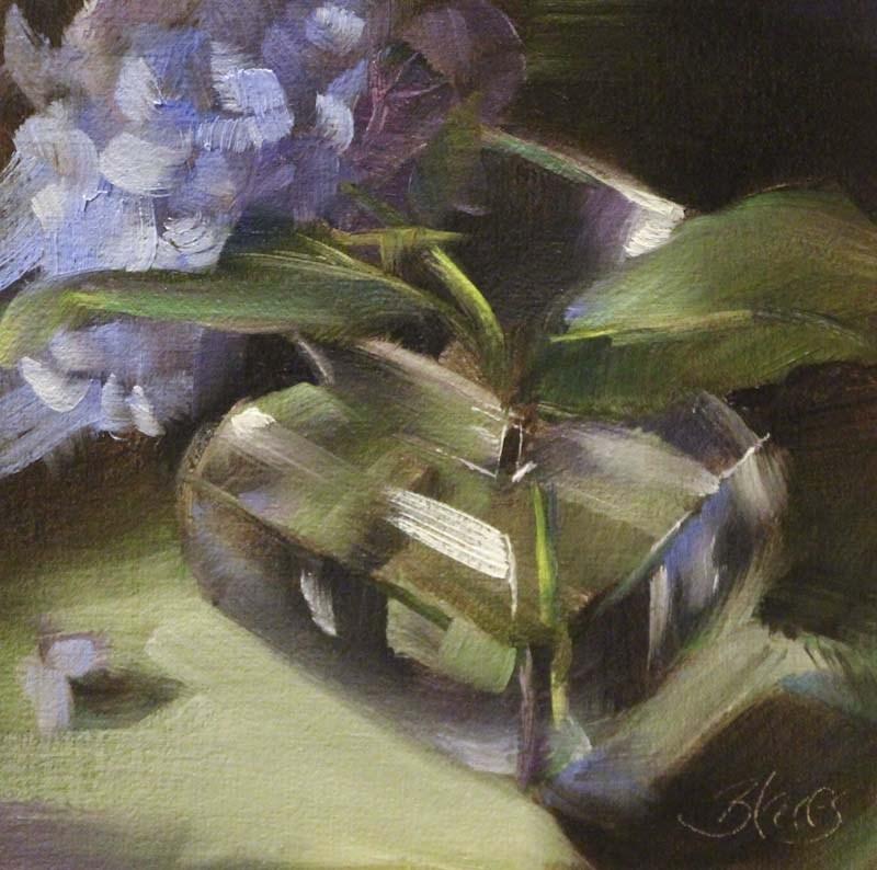 """One Blue Bloom"" original fine art by Pamela Blaies"