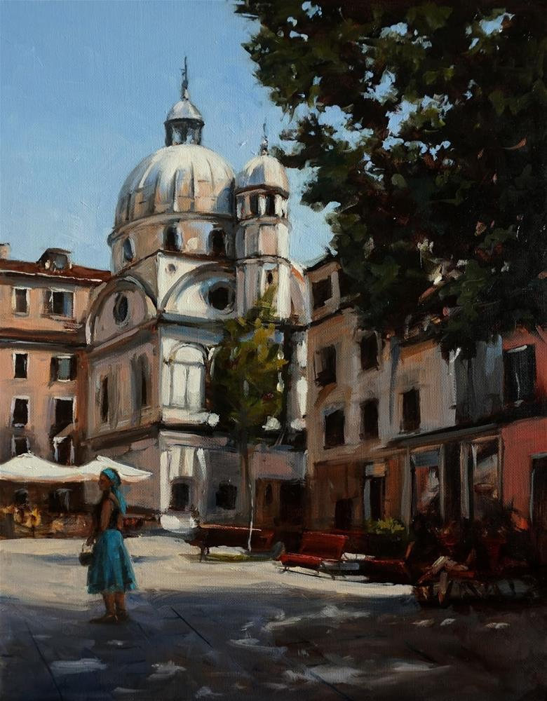"""Venetian Courtyard"" original fine art by Jonelle Summerfield"
