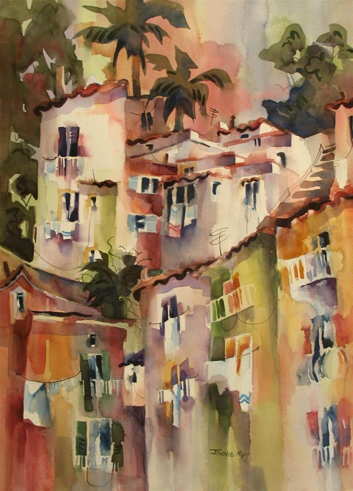 """Marina Grande-Laundry"" original fine art by Jinnie May"