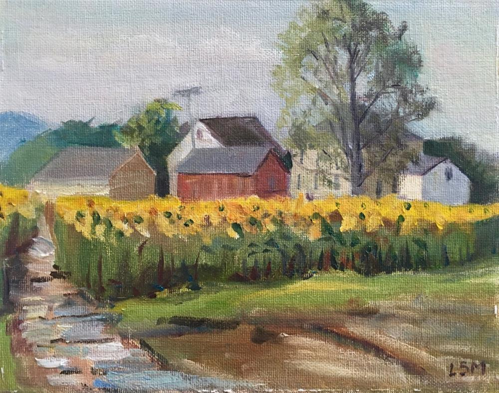 """Sunflower Fields, Griswold CT"" original fine art by Linda Marino"