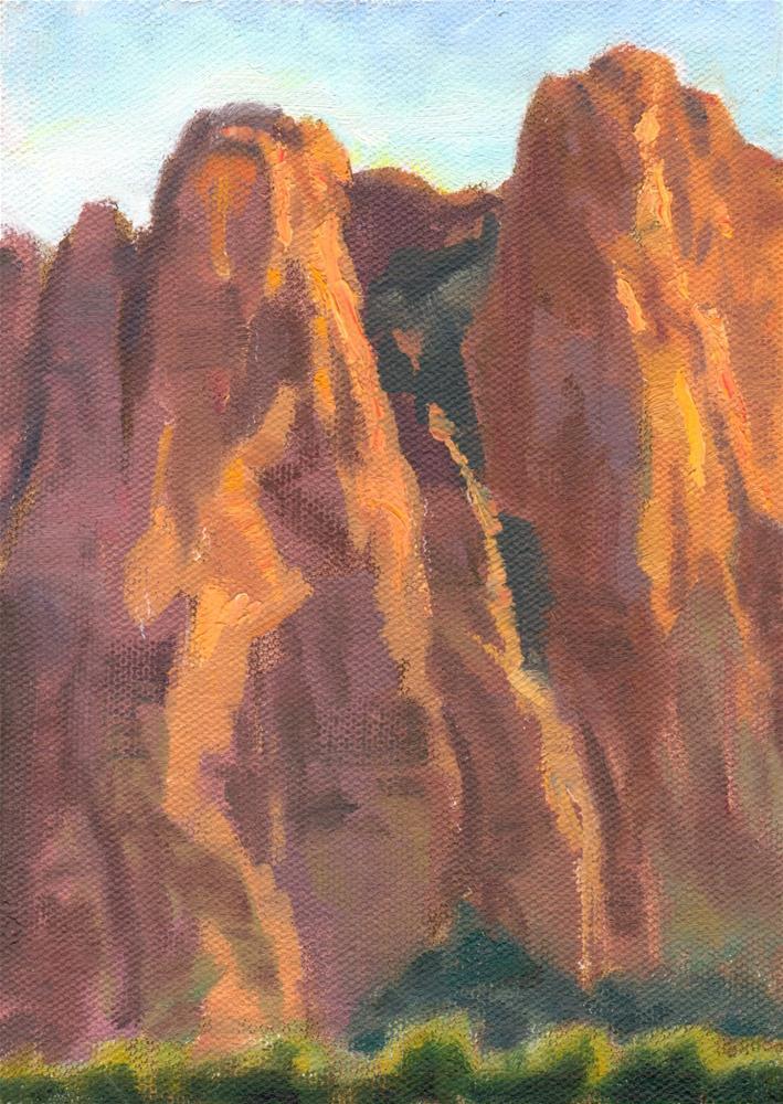 """Red Cliffs"" original fine art by K.R. McCain"