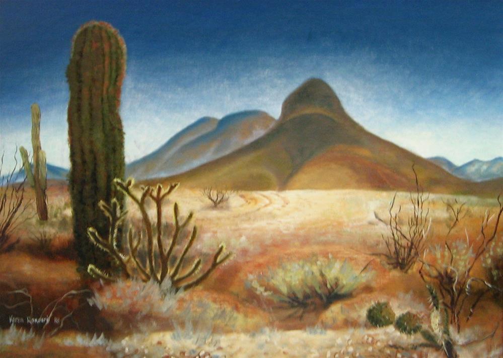 """Dome Rock Mountain"" original fine art by Karen Roncari"