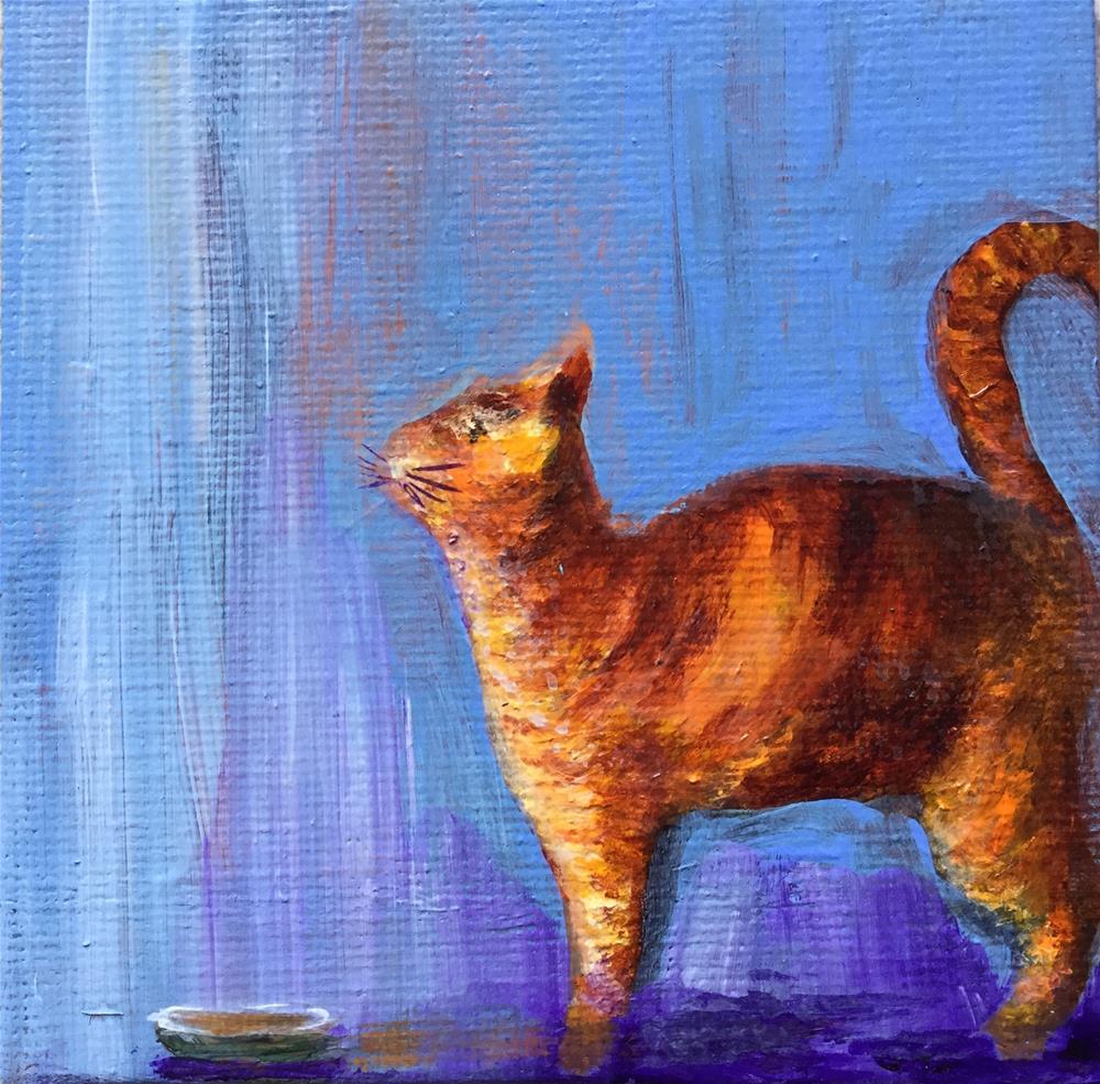 """4027 - Rockwell Cat - Mini Master Series"" original fine art by Sea Dean"