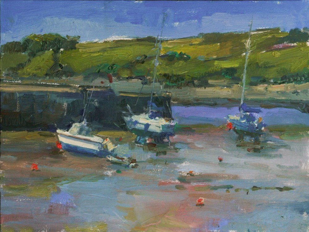 """#15 30 Paintings in 30 Days Low Tide, Scotland"" original fine art by Julie Snyder"