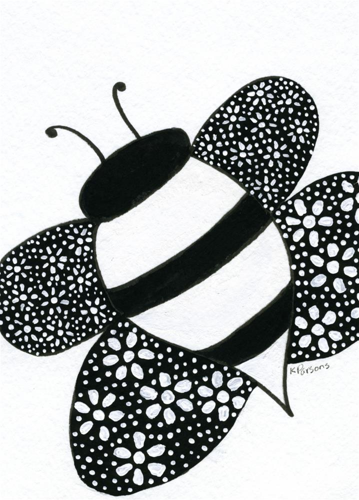"""""""Bee Awesome!"""" original fine art by Kali Parsons"""