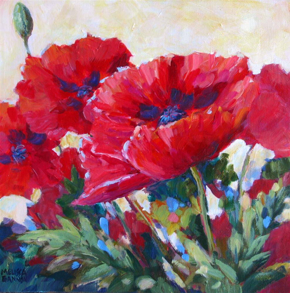 """Dancing Reds"" original fine art by Melissa Gannon"