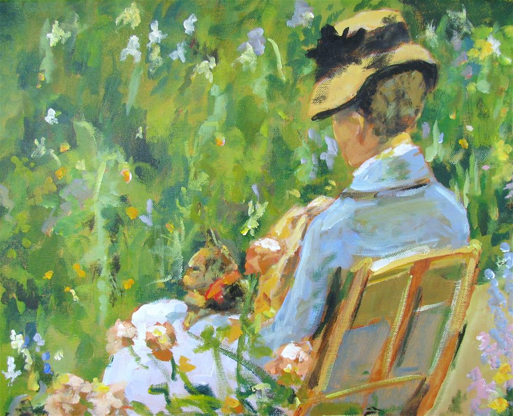 """Study of Mary Cassatt's In the Garden"" original fine art by Susan Elizabeth Jones"