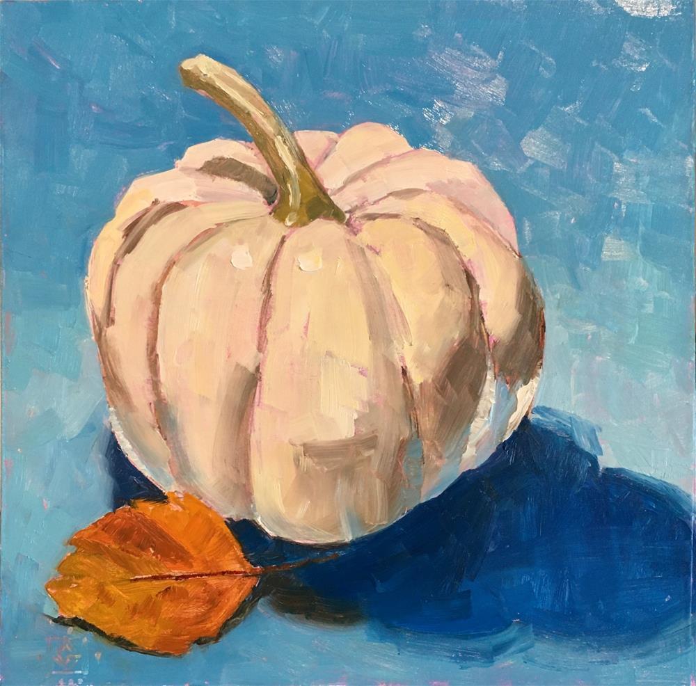 """Mini Pumpkin 2   "" original fine art by Carol Granger"