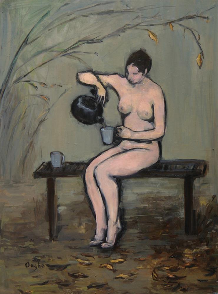 """Garden Tea"" original fine art by Angela Ooghe"