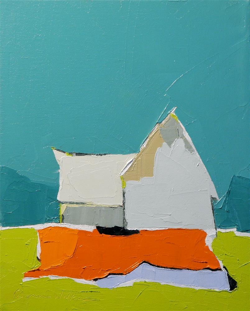 """""""Blue and Orange Duet"""" original fine art by Donna Walker"""