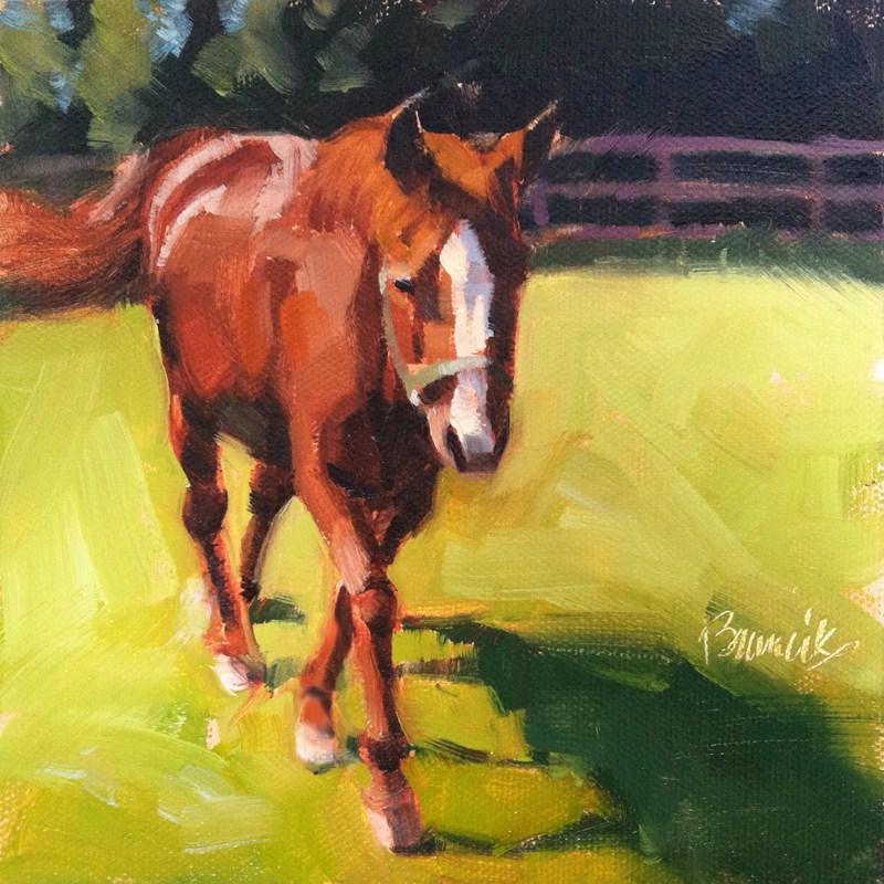 """Coming To See Me"" original fine art by Candace Brancik"