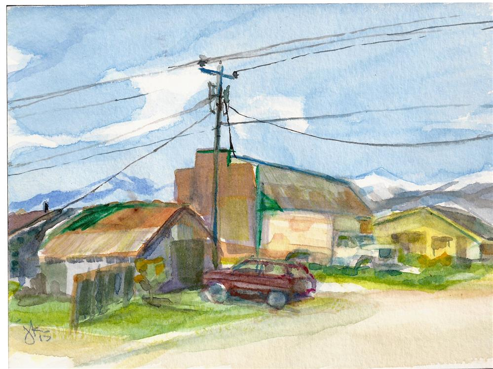 """""""Downtown Westcliffe2"""" original fine art by Jean Krueger"""