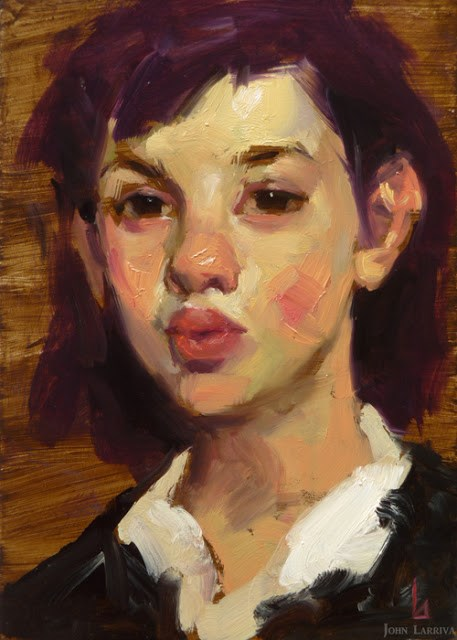 """Plum Girl"" original fine art by John Larriva"