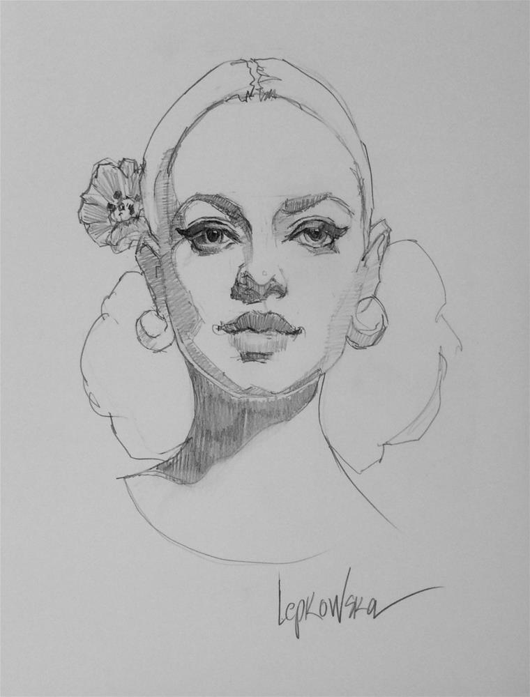 """""""Flamenco Flower Girl"""" original fine art by Laurie Johnson Lepkowska"""