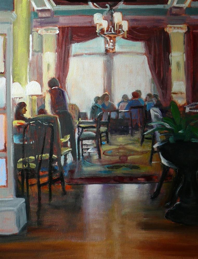 """640 High Tea at the Empress"" original fine art by Darlene Young"