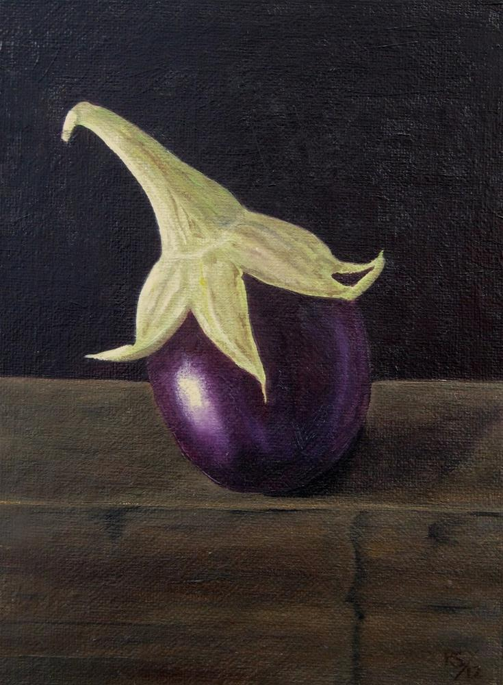 """Baby Brinjal"" original fine art by Pera Schillings"