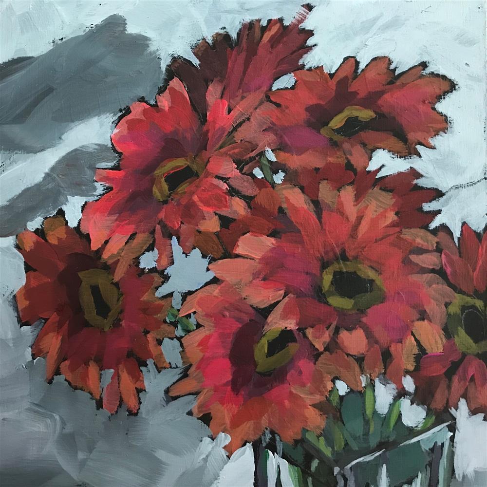 """Gerberas"" original fine art by Gina Garding"
