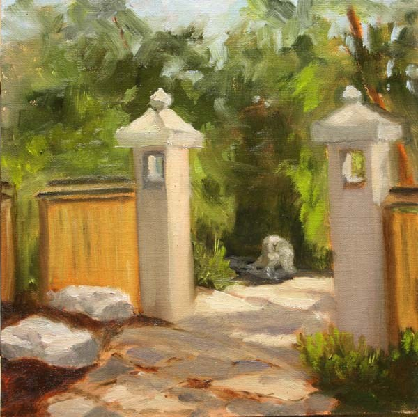 """Gates to the Garden"" original fine art by Jane Frederick"