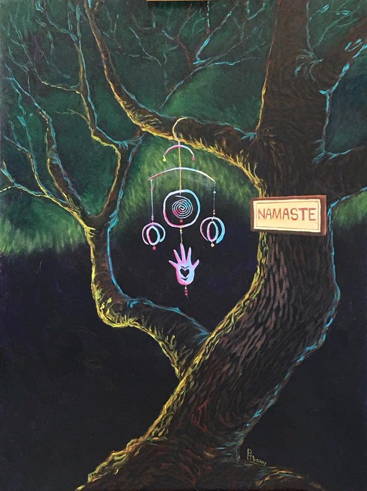 """Namaste"" original fine art by Patricia Murray"