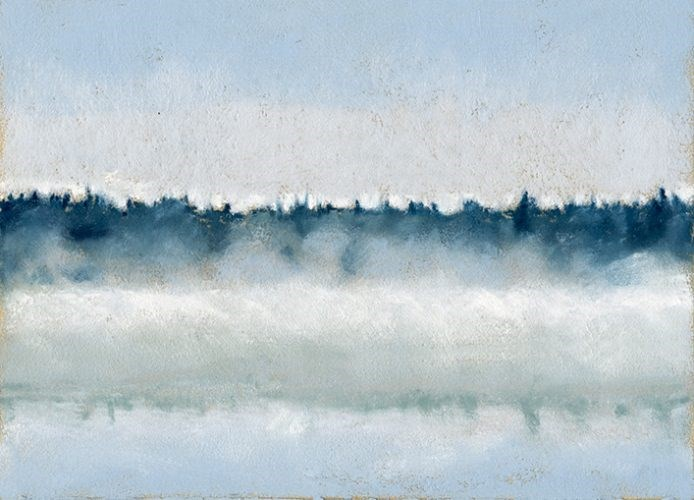 """Morning Mist in Maine pastel landscape painting"" original fine art by Ria Hills"