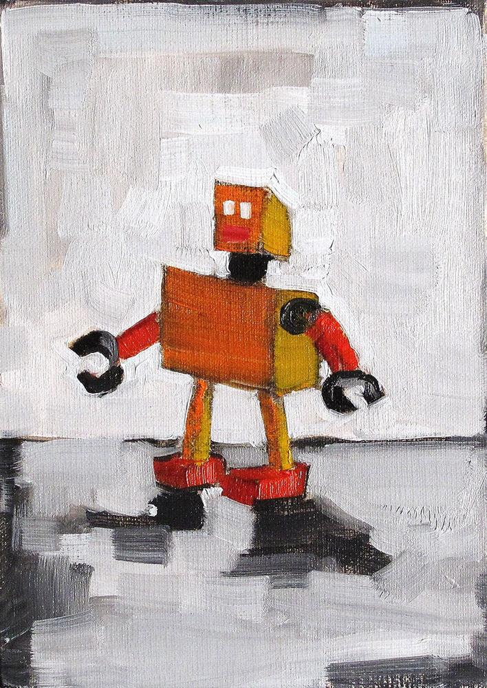 """Robot Painting"" original fine art by Kevin Inman"
