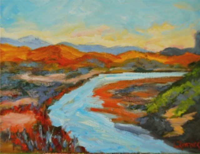 """""""Rio Grande at Big Bend National Park"""" original fine art by Liz Zornes"""