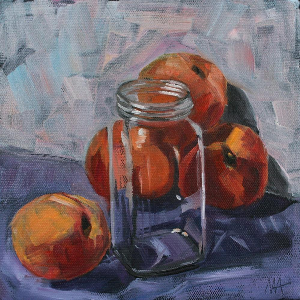 """Canned Peaches"" original fine art by Aniko Makay"
