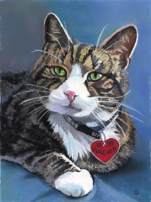 """Tabby Cat"" original fine art by Ria Hills"