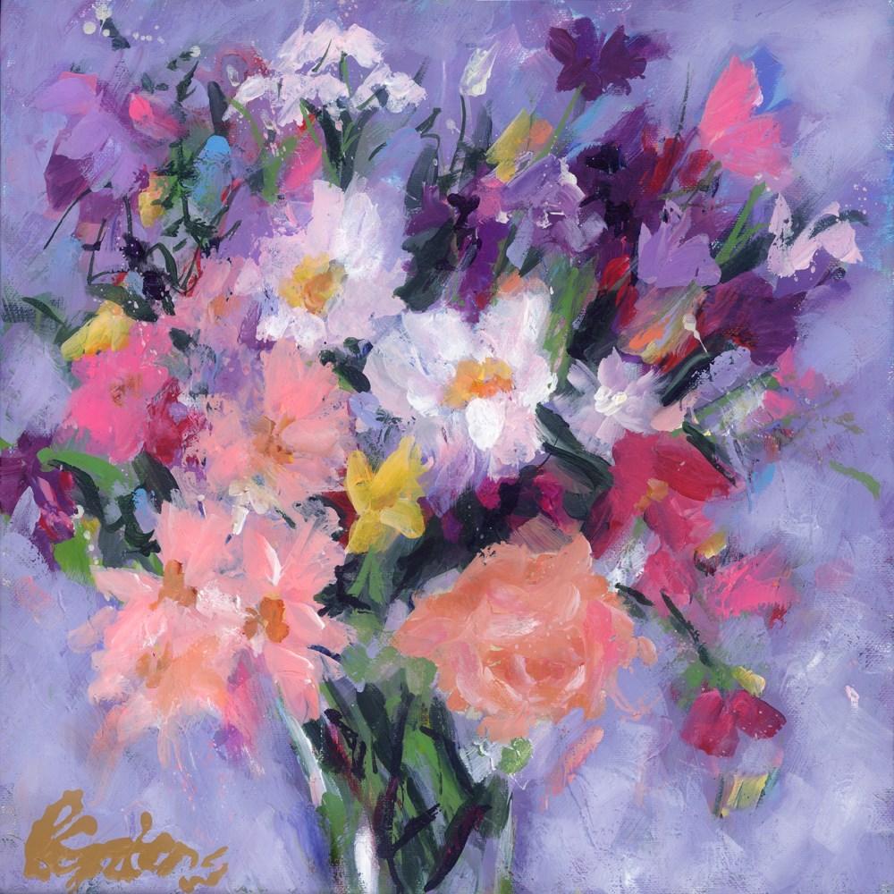 """""""Cottage Roses"""" original fine art by Pamela Gatens"""