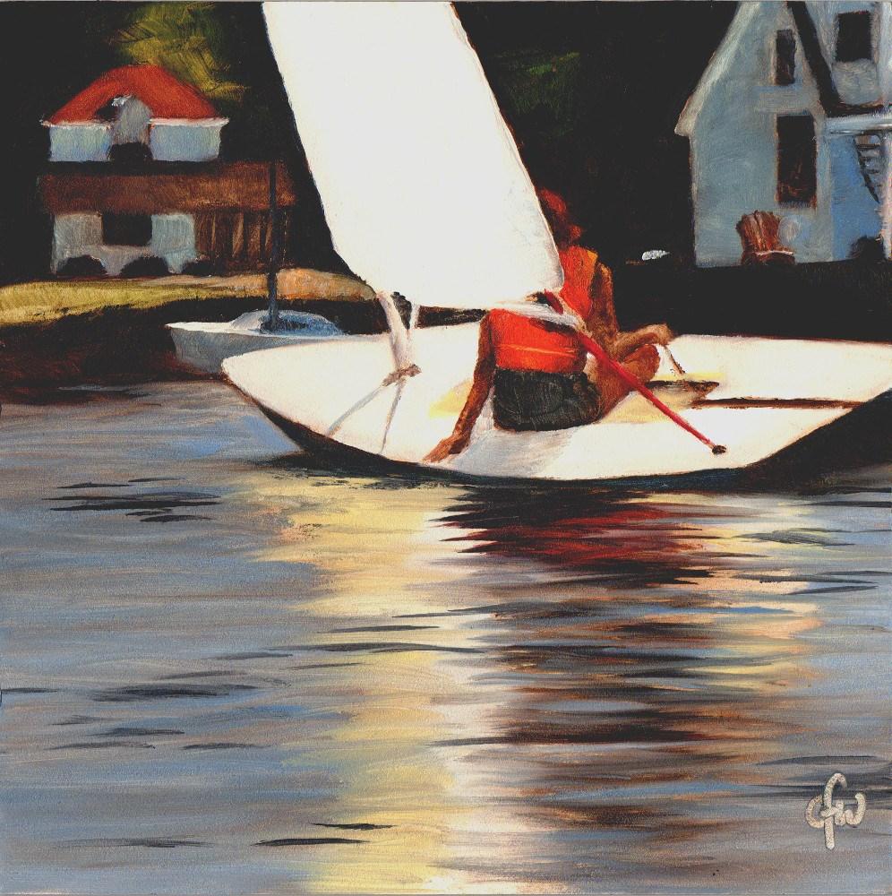 """""""Sailing Home"""" original fine art by Gary Westlake"""