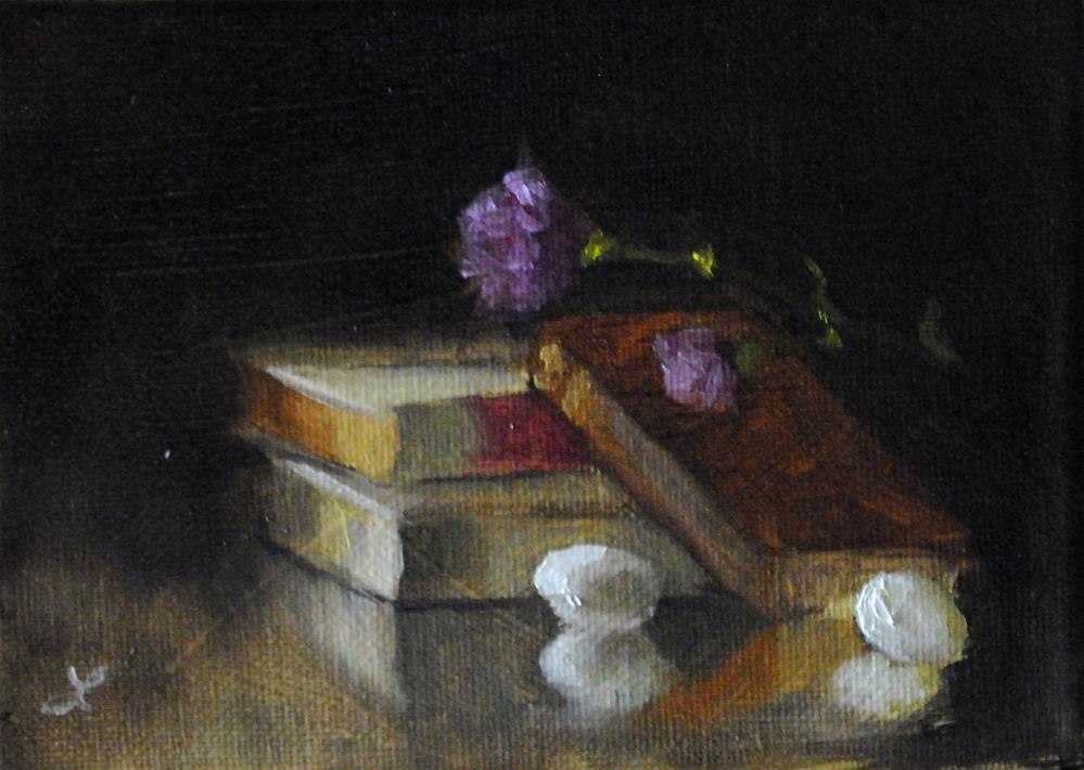"""Book Study"" original fine art by Lori Jacobs - Farist"