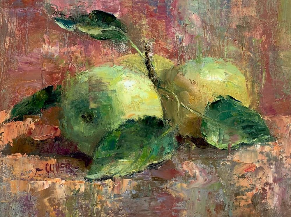 """Apples & Monet"" original fine art by Julie Ford Oliver"