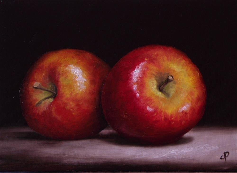 """Braeburn Apples"" original fine art by Jane Palmer"