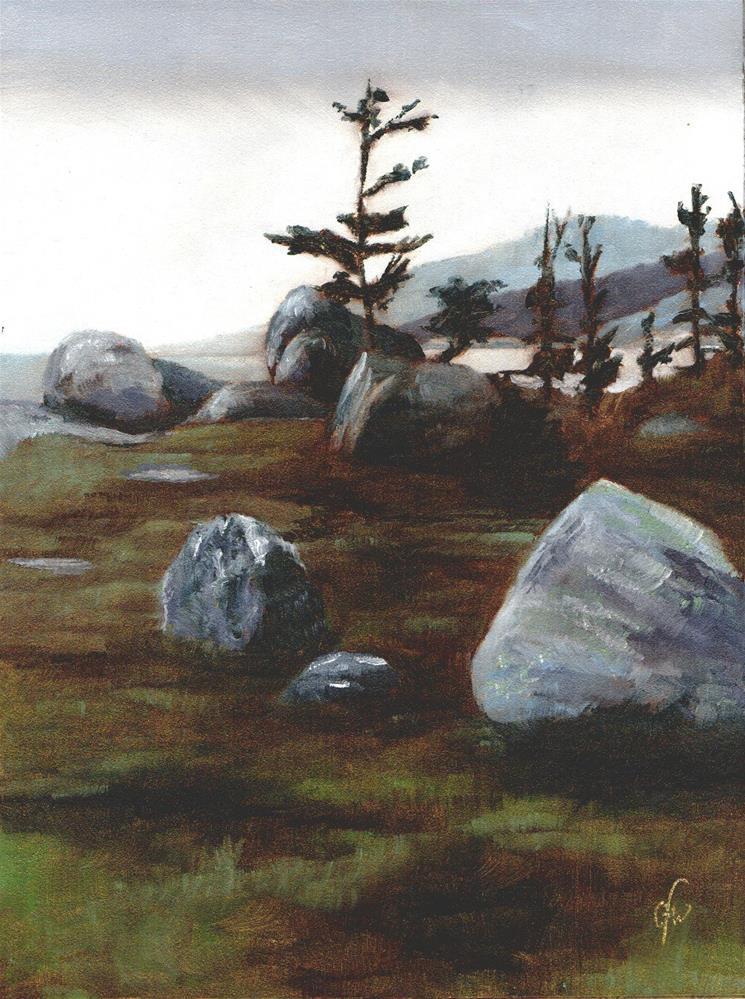 """Boulders"" original fine art by Gary Westlake"