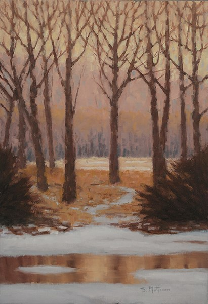 """Frozen Reflections"" original fine art by Susan Matteson"
