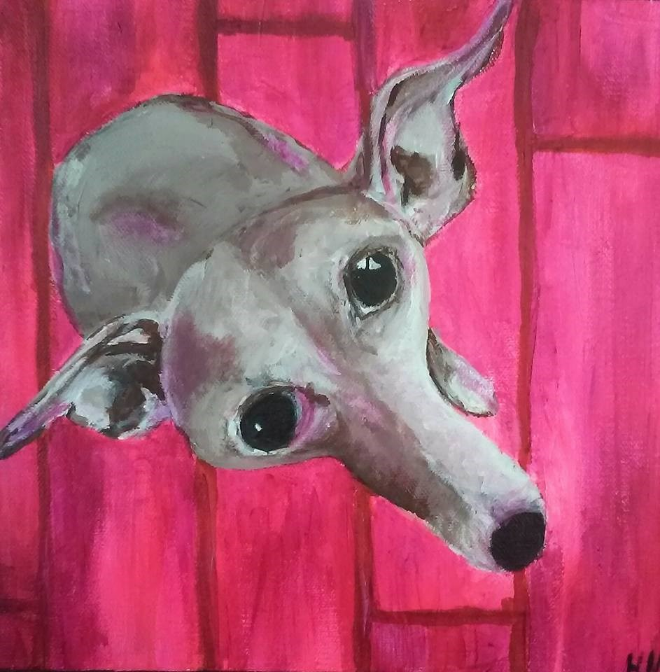"""Sherman"" original fine art by Hallie Dozier"