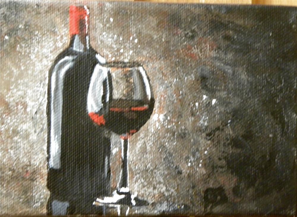 """Red wine"" original fine art by cheryl buhrman"