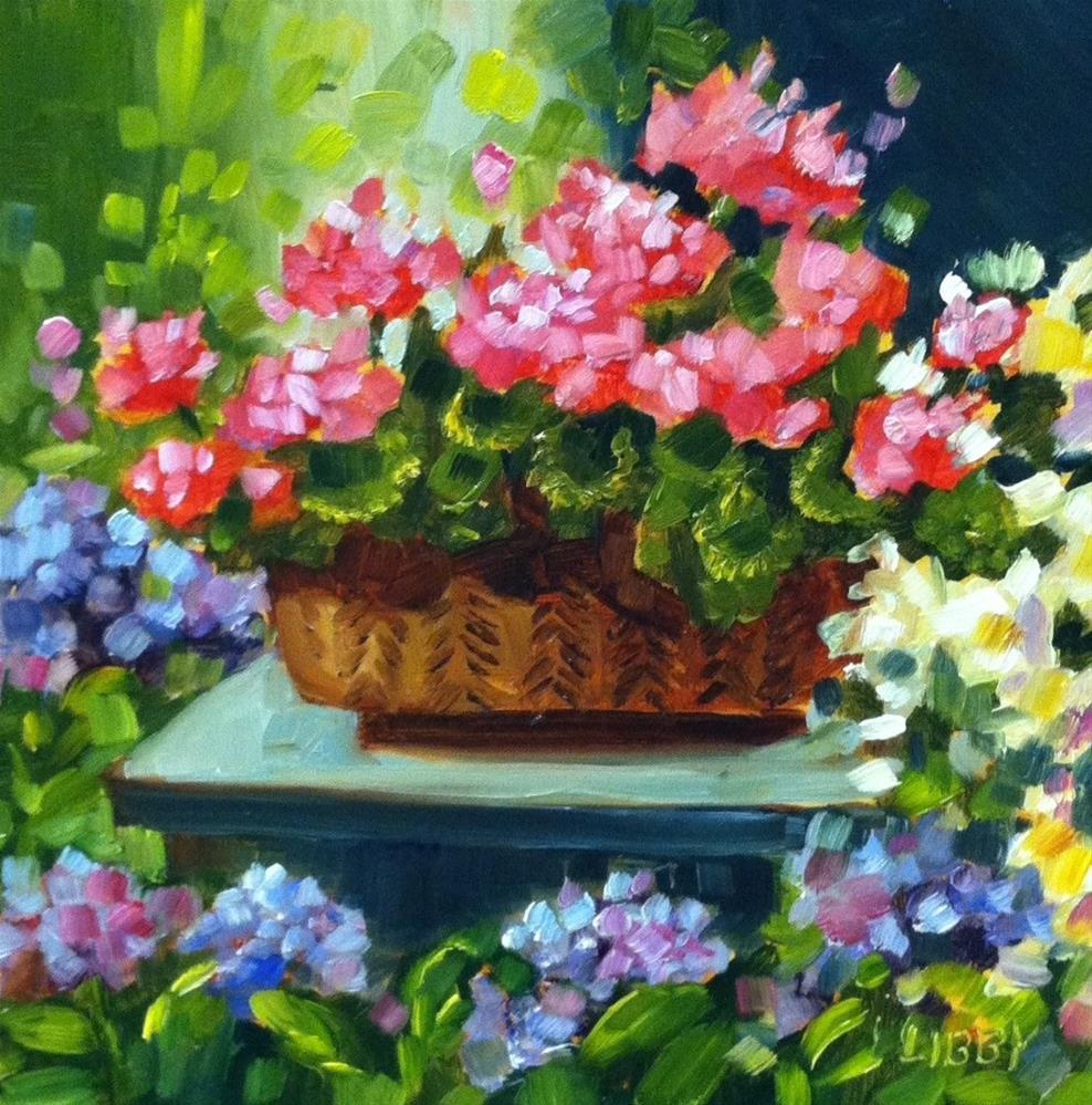 """On a Pedestal"" original fine art by Libby Anderson"