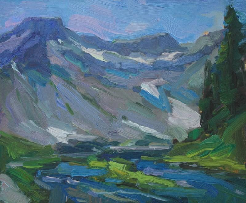 """Table Mountain"" original fine art by Kathryn Townsend"