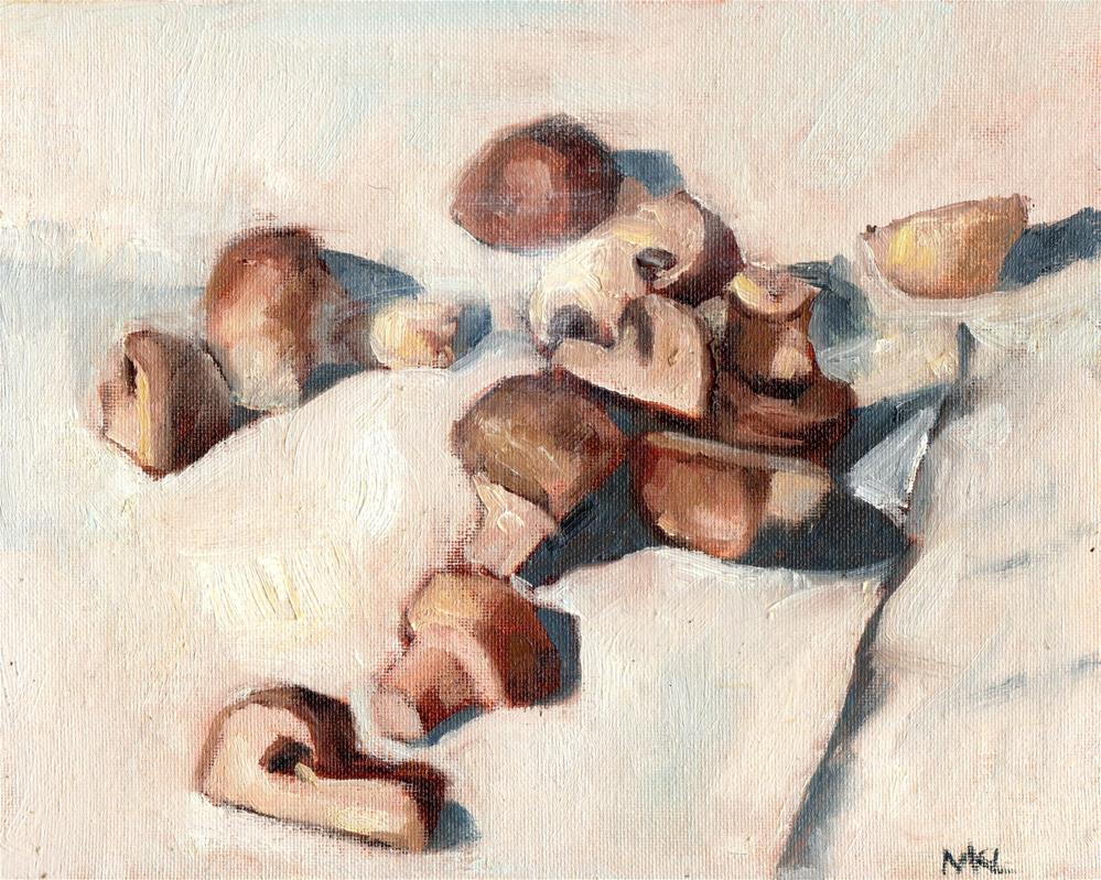 """Mushrooms"" original fine art by Marlene Lee"