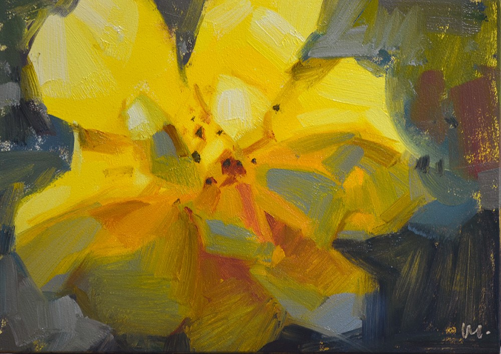 """""""Yummy Yellow"""" original fine art by Carol Marine"""